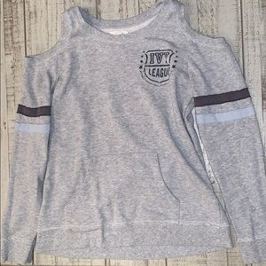 Maurice's medium cut out sweatshirt